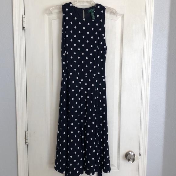 Lauren Ralph Lauren Dresses   Sale Lauren By Ralph Lauren Blue White ...